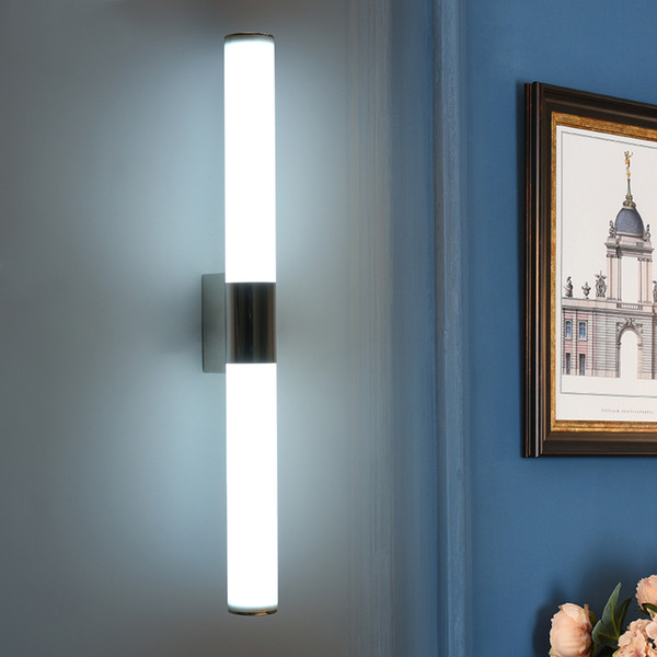 2019 Modern LED Bathroom Light Fixtures Mirror Wall Light 8W 12W 16W 24W  Indoor Mirror Front Sconces Lighting Tube Lamps From Ok360, $24.05 | ...
