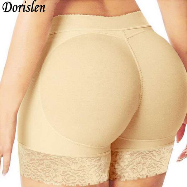 Sexy Lace Padded Boyshort Panties Woman Fake Ass Hip Enhancer Underwear Breathable Buttock Control Panty 100pcs