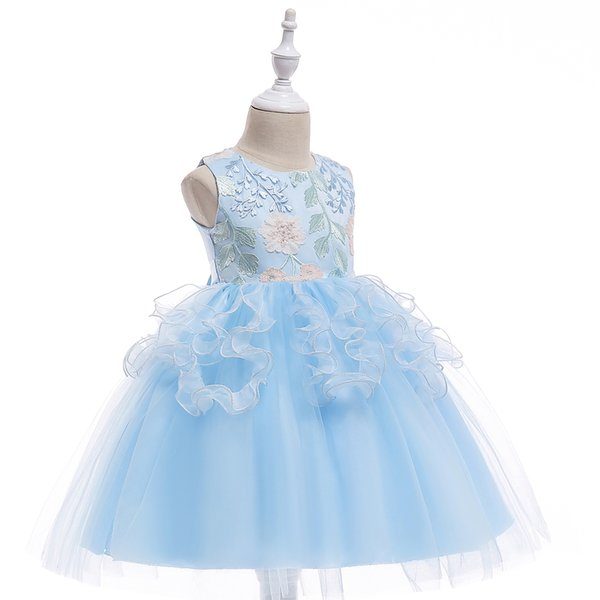 Flower Girl Dresses Lace Appliques Kids Formal Wear Cap Sleeve Girls Pageant Dress for Child Birthday Dresses Jewel Neck