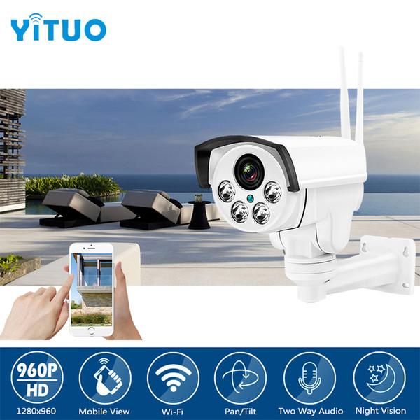 960P HD Wifi PTZ IP Camera Bullet Outdoor Pan Tilt Zoom 2-14mm 4X Optical Zoom 1.3MP Wireless IR SD Card CCTV Camera