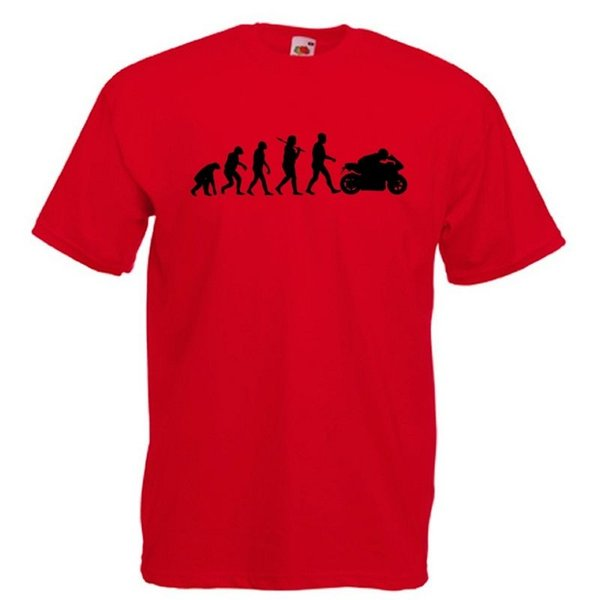 Details zu Awesome Evolution of Motorbike RED MotoGP Superbike T-Shirt BNWT Funny free shipping Unisex Casual tee gift