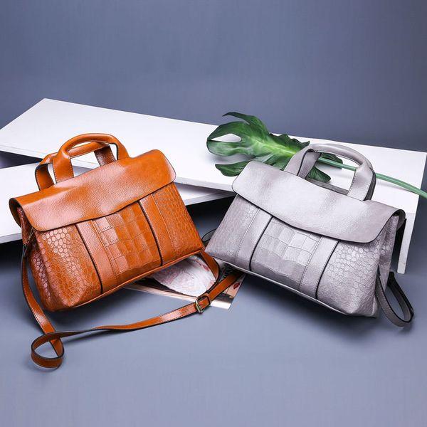 wholesale fashion cross body bags women bags burgundy brown gray Khaki black PU crocodile skin Genuine Leather shoulder bags