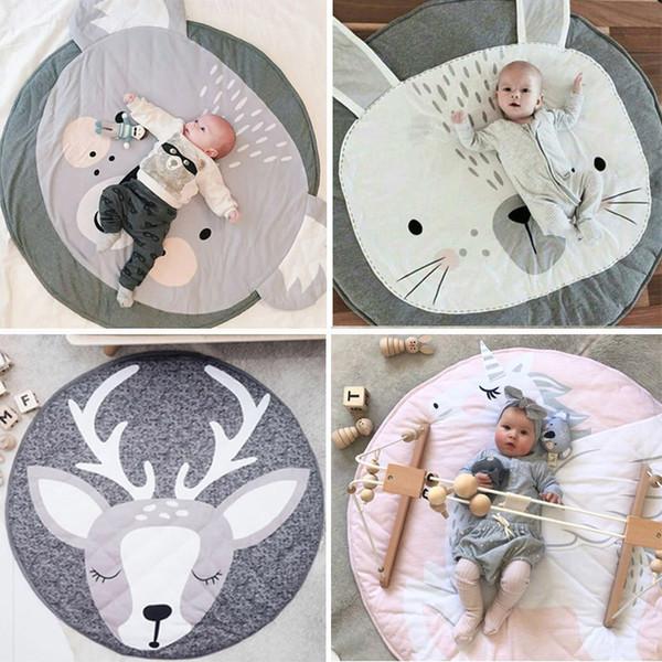 90 CM Rodada Do Bebê Playmat Tapete Do Berçário Crawling Mat Teepee Tapetes Macios Tapetes de Jogo Creeping Crianças Quarto Decorativo Almofadas Do Tapete