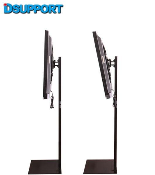 32-70 pouces LCD LED Plasma Moniteur Support de plancher Support de plancher Pivot à inclinaison AD Gestion du fil d'affichage Hauteur réglable