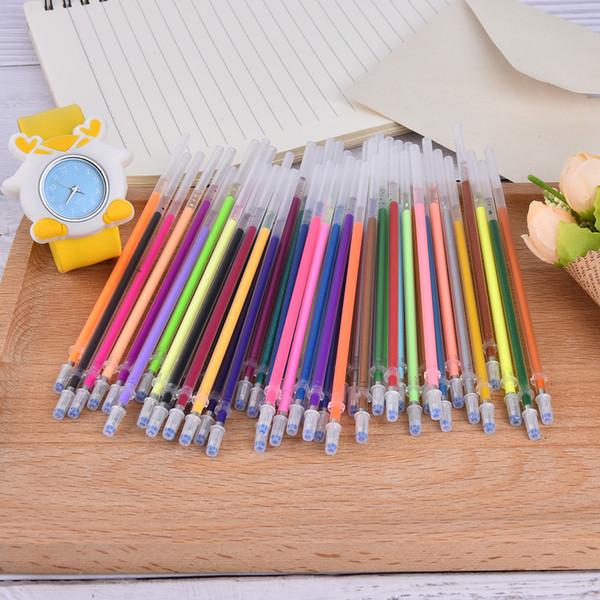 DIY Lindo Kawaii Colchonetas de Gel de Colores Recargas Set Para Niños Escribir Regalos de Pintura Estudiante de Papelería Coreano 48 Unids / lote