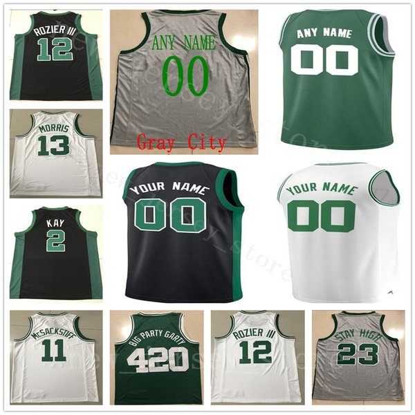 new style 28b28 c32c0 2019 Custom College Printed 12 Terry Rozier III Jerseys 46 Aron Baynes 36  Marcus Smart 6 Bill Russell 30 Guerschon Yabusele Jabari Bird Jerseys From  ...