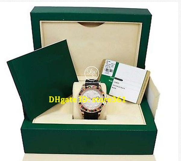 Luxus Armbanduhr Herrenuhr Original Box Zertifikat 116655 18K Rotgold Diamant ebnen Zifferblatt Saphir Lünette 40mm