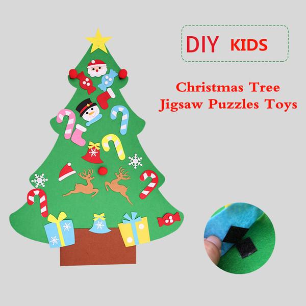 Weihnachtsbaum Spiele.Großhandel Kinder Spielzeug Spiele Intelligenz Diy Weihnachtsbaum Puzzles Spielzeug Geschenke Für Kinder Junge Mädchen Schaufenster Hause Hängen