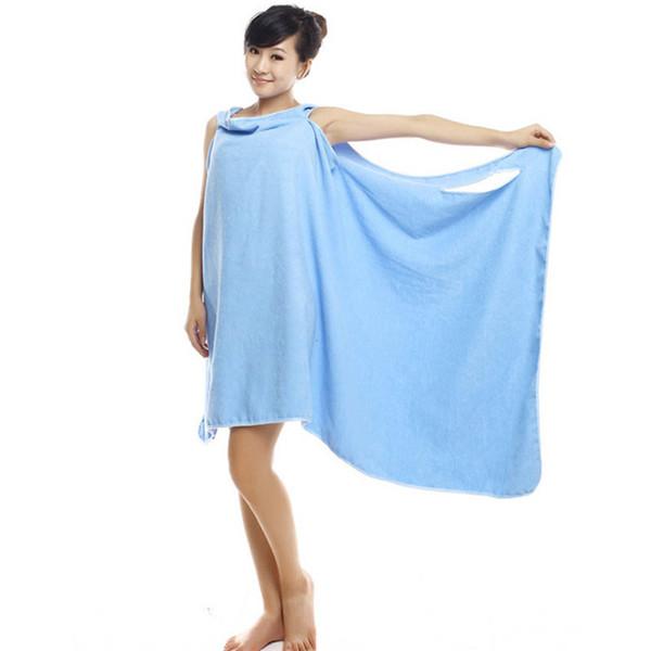 Лучший магия банные полотенца Леди девушки СПА душ полотенце тела обернуть халат халат пляж платье носимых волшебное полотенце