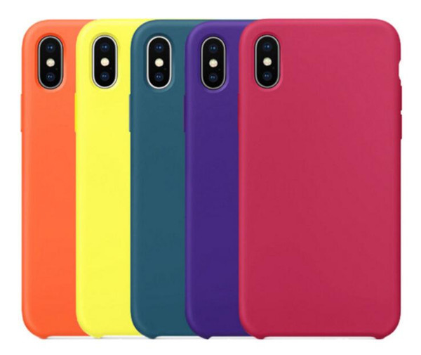 Hybrid Gel Rubber Liquid Silicone Case Hot Protect Office Cover For iPhone X Mas XS XR 6S 6 7 8 Plus For Apple Phone With Retail Box 1PCS