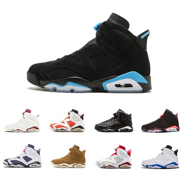 2018 Whosale 6 6s Mens Basketball shoes man unc Black Cat Infrared sports blue Maroon Olympic Alternate Hare Oreo Angry bull Sports sneakers