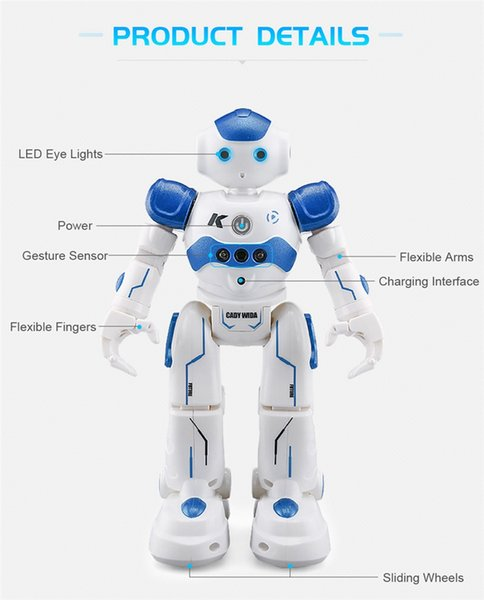 High Quality 360 Remote USB Charging Dancing Gesture Control RC Robot Toy Blue Pink for Children Kids Birthday Gift Present