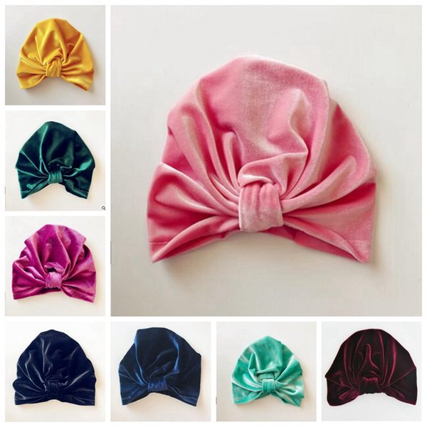 Neugeborene Hut-Weihnachtssamt-Kappen-Baby-Winter-Hüte Baby-Indien-Moslemischer Turban scherzt Beanie-Hüte Kleinkind-Winter Beanie-Fotografie-Requisiten