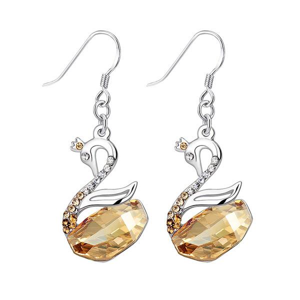 Brincos de cristal europeus e americanos usam brincos de cristal Swarovski 2835c31c92