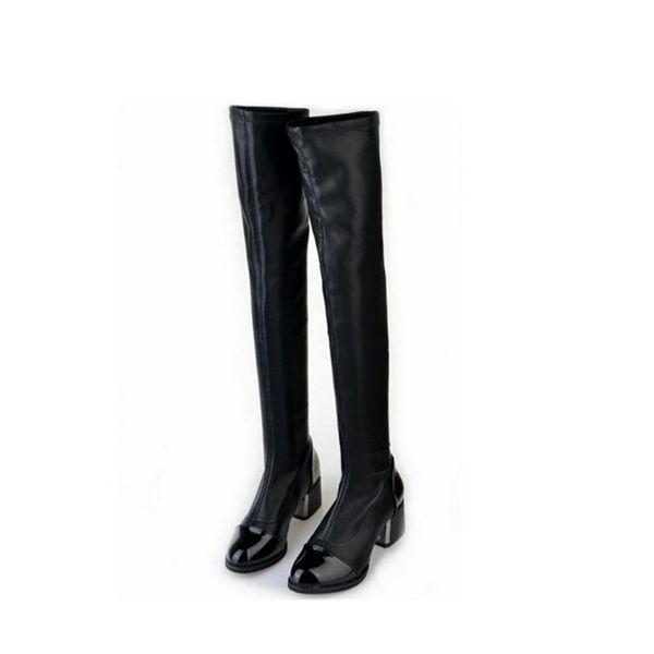 Güzel Yeni Sonbahar Kış Kadın Sıcak Ayakkabı Yüksek topuklu Diz Üzerinde Moda Kadınlar Uzun Çizmeler Streç Çizmeler Kar S521