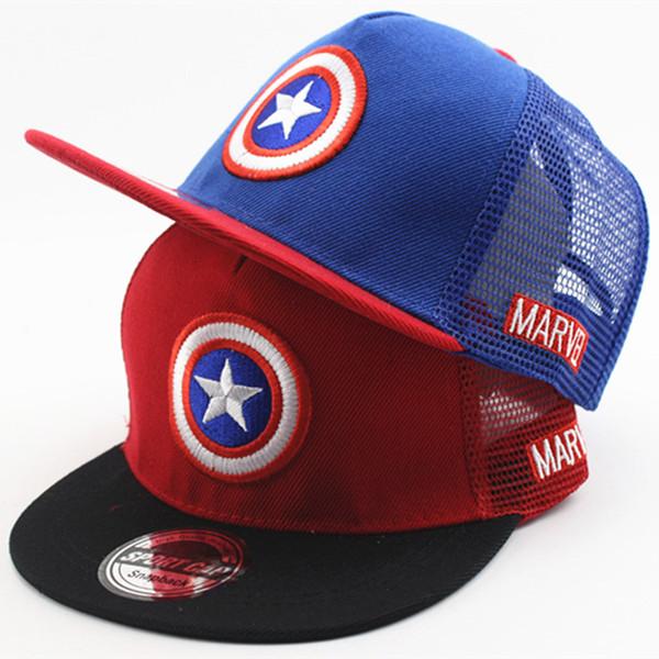 New baby boy Girl Tot Super League US Captain Five-pointed Star Child Shade Baseball Cap beanies Sun Hip Hop Hat