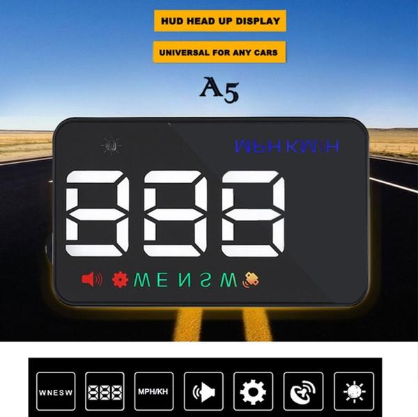 3.5inch A5 GPS HUD Head Up Display Km/h MPH Digital Speedo Speed Warning Alarm