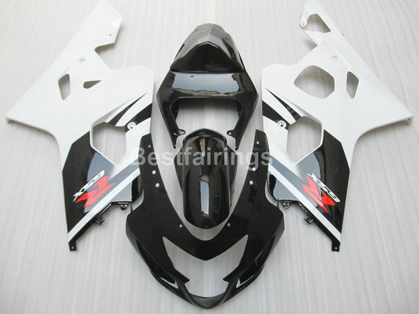 Hot sale fairing kit for SUZUKI GSXR600 GSXR750 2004 2005 white black GSXR 600 750 K4 K5 fairings KJ89
