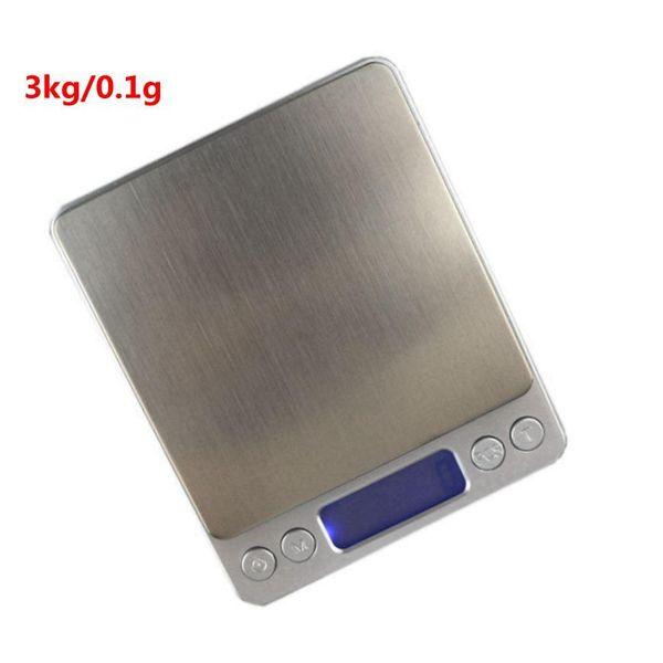 3000g / 0.1g Balanza de Peso Digital Libra 3kg / 0.1g Escala de Cocina Electrónica Hight Accuracy Jewelry Food Diet Scale Envío Gratis