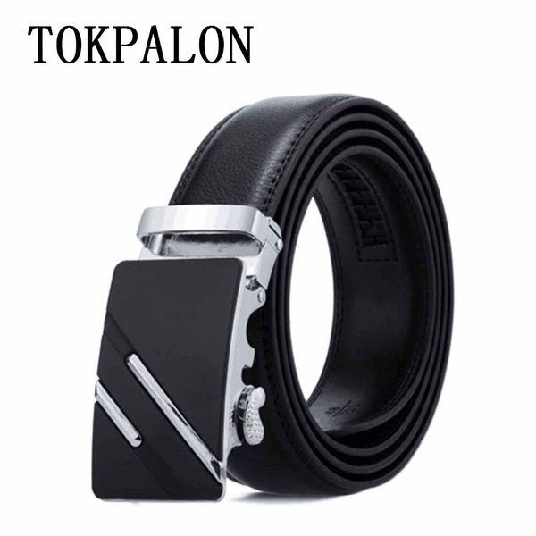 Belt Men Top Quality imatation Leather Belts for Men Strap Male Metal Automatic Buckle wholesale cheap prbelts