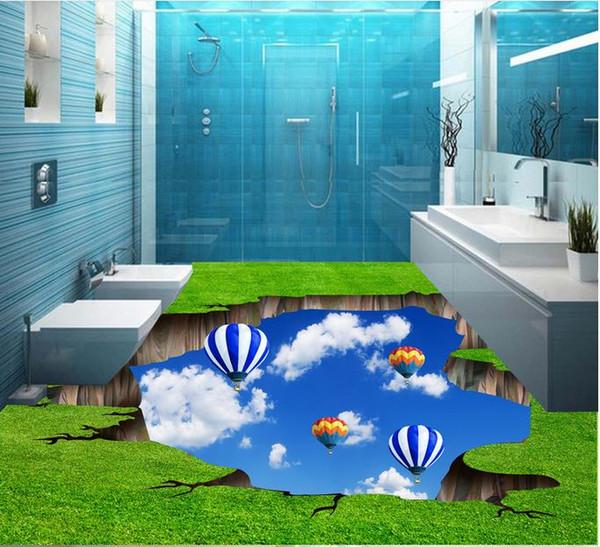 Großhandel PVC Vinylboden Badezimmer Badezimmer Gras Himmel 3D Boden 3D  Boden Badezimmer Tapete Von Yyyy2015, $50.26 Auf De.Dhgate.Com | Dhgate