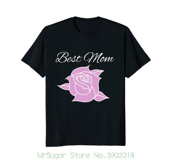 Camiseta linda de la mamá hermosa Rose, camiseta perfecta del regalo del día de madre para los hombres / muchacho Camisetas frescas de la manga corta