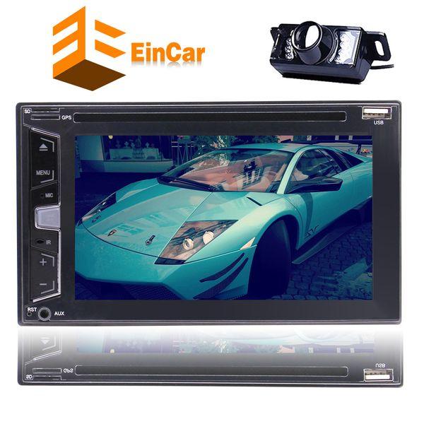 "Rearciew Camera 2 Din Car Radio Audio Stereo car DVD CD Player In Dash Headunit Autoradio 6.2"" Bluetooth Touchscreen Steering Wheel Control"