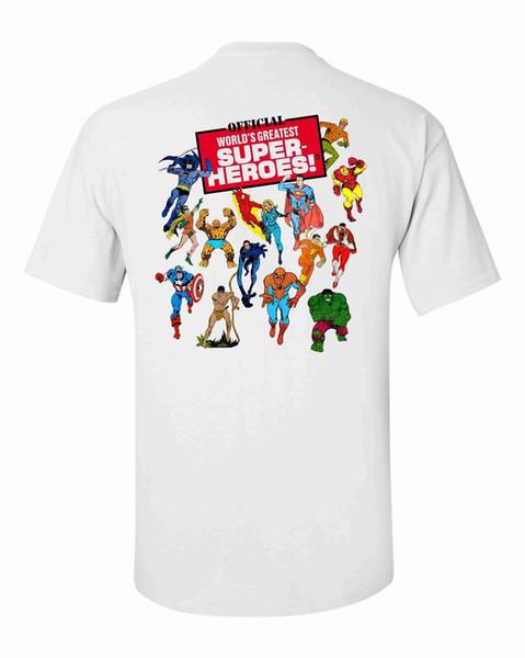 MUNDOS GRANDES SUPER HERÓIS MEGO T-SHIRT / WGSH NOVA Moda Camisetas Verão Em Linha Reta 100% Algodão Verão 100% Algodão