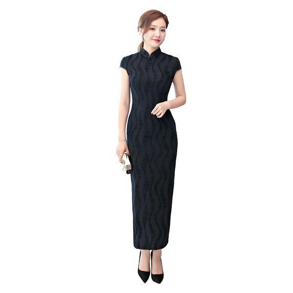 Shanghai Story 2018 New Arrival Women's Long Qipao Chinese Cheongsam Dress National Trend Oriental Dress