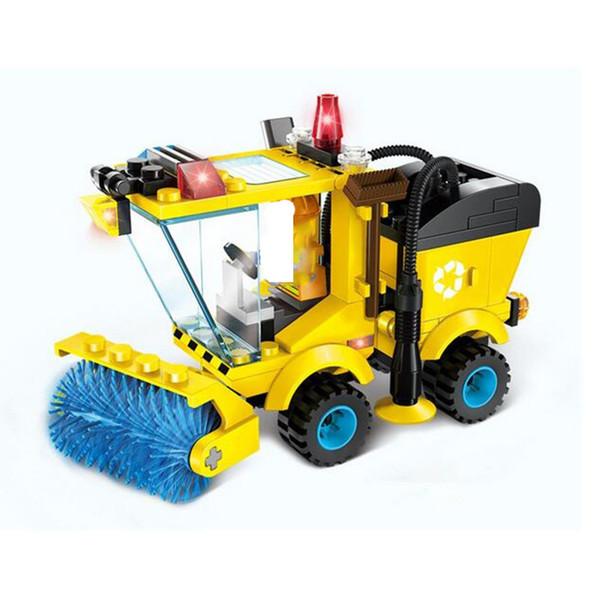 102 unids / set City Series Sweeper Car Truck Modelo Montar Bloques de Construcción Juguetes Educativos Aprendizaje Educación Ladrillos Regalos para Niños
