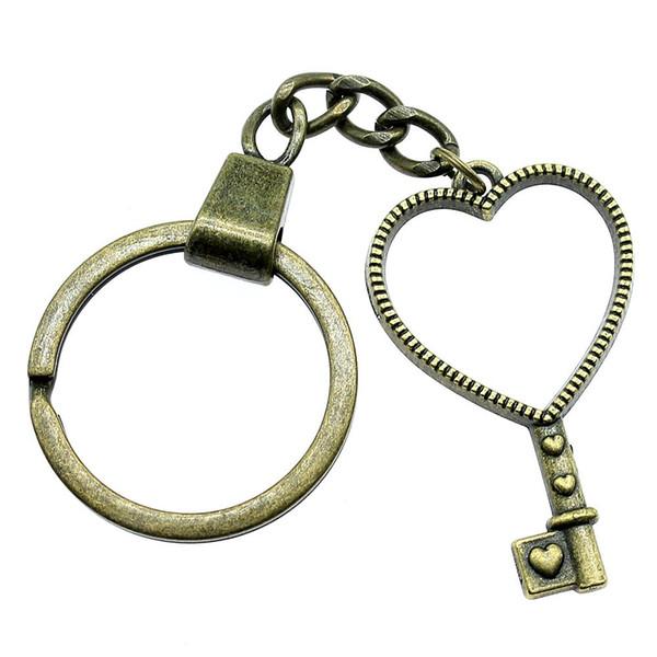 6 Stücke Schlüsselanhänger Frauen Schlüsselanhänger Paar Keychain Für Schlüssel Liebe Schlüssel Metallrahmen Anhänger 42x25mm