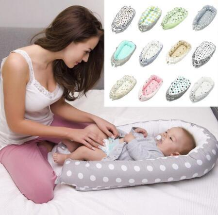 80*50CM Baby Nest Crib Bionic Cot Bed Newborns Baby Bedding Foldable Travel Bed For Infant KKA6269