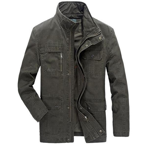 New Men jacket jean  army soldier coon Autumn Mens jackets Multi Pocket Zipper Buon Coon Outwear Jacket for Men