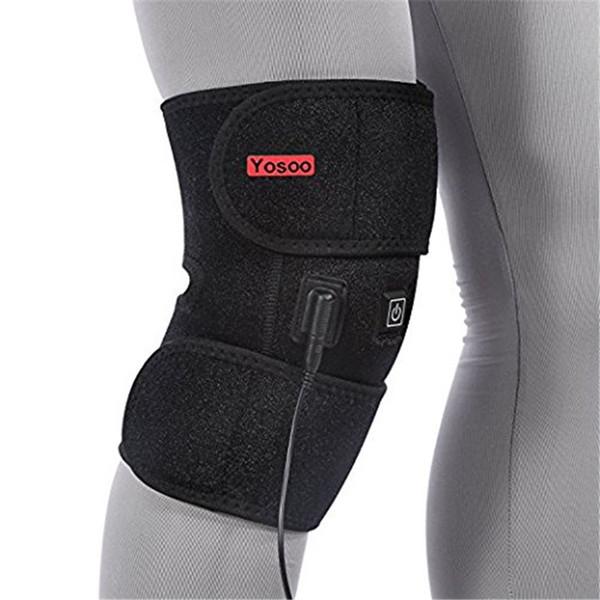 venta al por mayor eléctrico Heat Kneepad Therapy Wrap parche para la compresión en frío rodilla lesión Lesión artritis frío caliente caliente terapia almohadilla de alivio del dolor