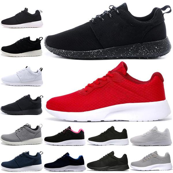 Sıcak satış Tanjun Run Koşu Ayakkabıları erkekler kadınlar siyah düşük Hafif Nefes Londra Olimpiyat Spor Sneakers erkek Eğitmenler boyutu 36-45