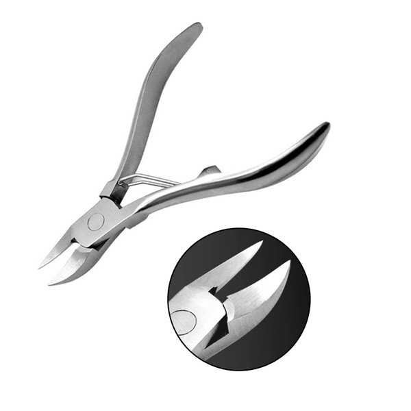 1Pcs Stainless Steel Nail Cuticle Scissor Toe Nail Ingrown Cuticle Nipper Pedicure Dead Skin Cutter for cuticle tools H004