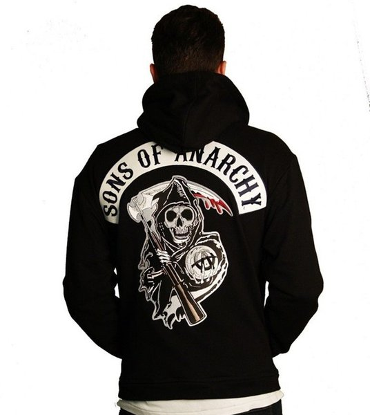 Mens Sweat Cardigans Fashion Letters Skull Printed Long Sleeve Sweatshirts Pockets Decorated Hoodies S - 3XL Outfits