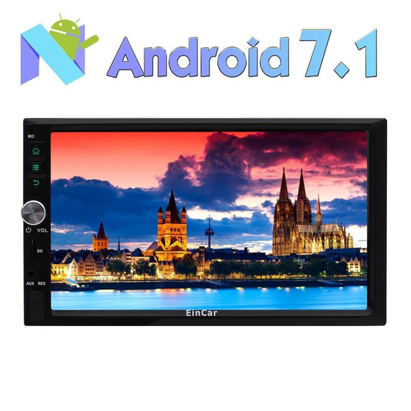 """best selling Car Stereo Radio car video player GPS 7"""" 2 DIN Android 7.1 Autoradio HD 1080P Touchscreen Navi GPS Radio RDS WIFI+Reverse camera"""
