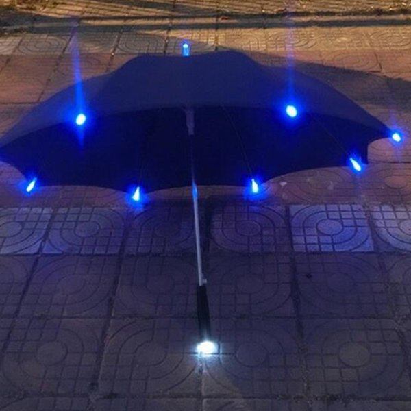 7 Colors Changing Color LED Luminous Transparent Umbrella Rain Kids Women with Flashlight Gift