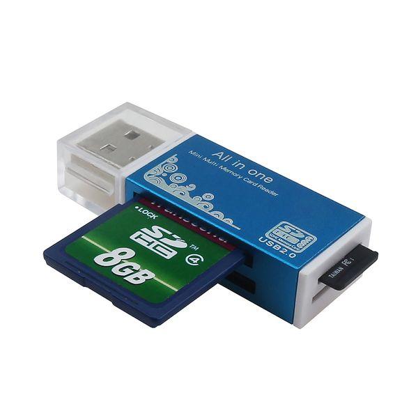 4 Cor 4 em 1 Leitor de Cartão para Memory Stick Pro Duo Micro SD TF M2 MMC SDHC MS Silier Cores de Alta Qualidade