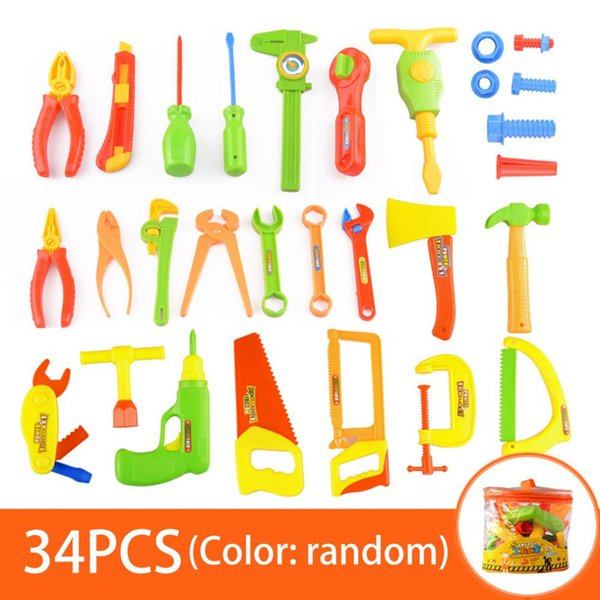 DHL 34 pcs Children Repair Tools Toy Set Pretend Play Toy Kit Role Play Dismantling Kids Tools