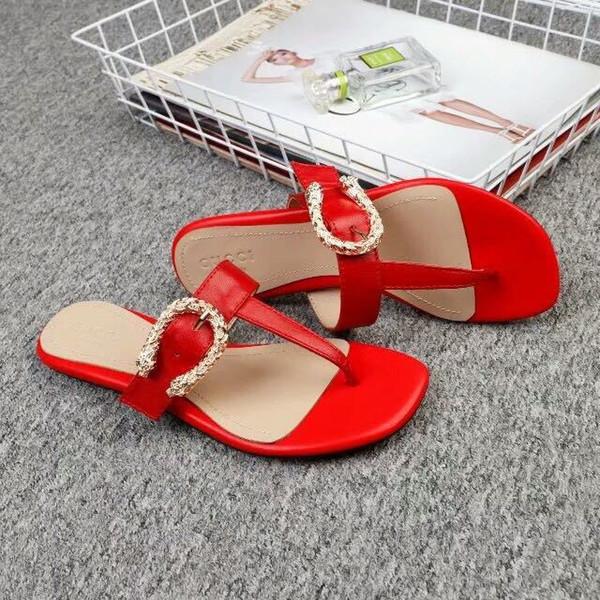 huweifeng4 lettre de qualité en métal à boucle en haut chaussures en cuir véritable noir mode femme pantoufles sandales 35-42 avec la boîte