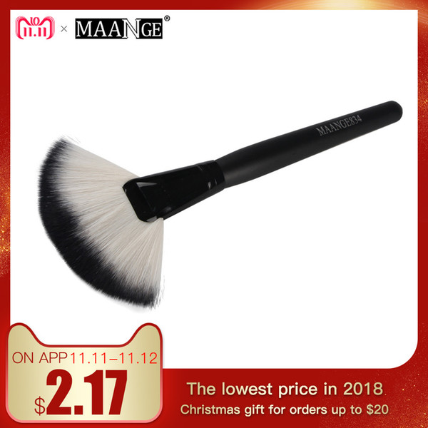 1Pcs Soft Makeup Large Fan Brush Foundation Blush Blusher Powder Highlighter Brush Powder Dust cleaning brushes Cosmetic Tool D18110902