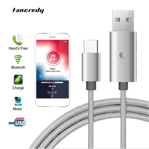 Tancredy Car Bluetooth4.2 USB FM Transmitter 3.1A fast charging Car Charger USB Bluetooth Handsfree Kit for iPhone Android
