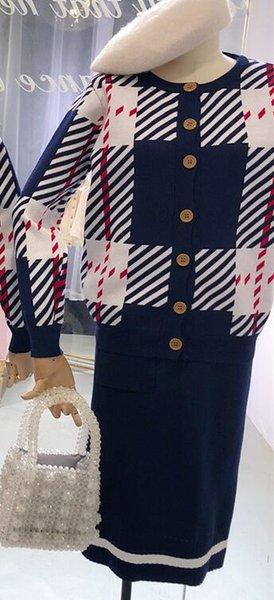 Navy Skirt Set