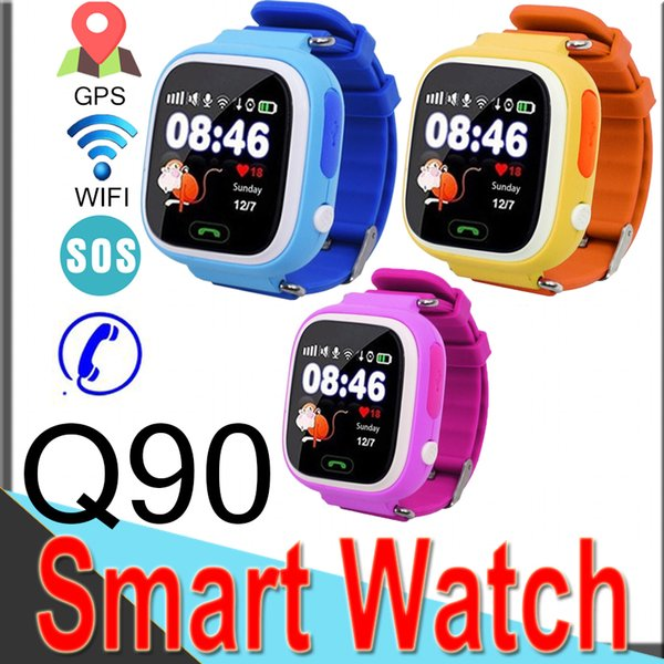 Q90 GPS Tracking Smart Watch Touch Screen with WiFi for iPhone IOS Android SOS Call Anti Lost Smart Phone Children Smartwatches R3