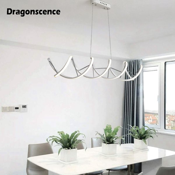 Dragonscenc Double Helix DNA Aluminum LED Pendant Light Decoration Hanging  Pendant Lamp Lighting For Dining Office Meeting Room Hanging Lamp Ceiling