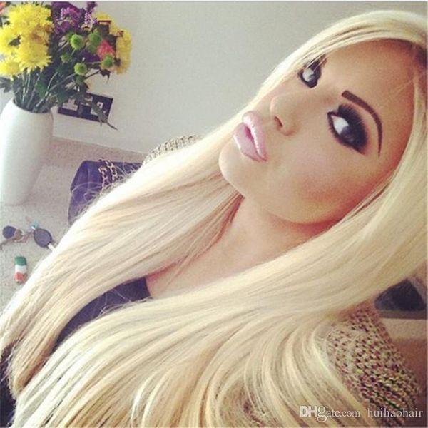 Platinum Blonde Virgin Hair Bundles 300G Lot #613 Blonde Malaysian Human Hair Weaves 3Pcs Lot 8A Malaysian Hair Extension