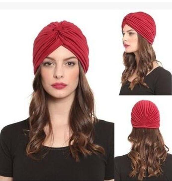 Unisex India Cap Women Turban Headwrap Hat Skullies Beanies Men Bandana Ears Protector Hair Accessories 30 pcs