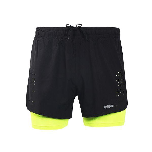 "Mens Sports 3"" Running Shorts Training Exercise Jogging Short Pants 2 in 1 Marathon Short Man Sport Deportivo Hombre"